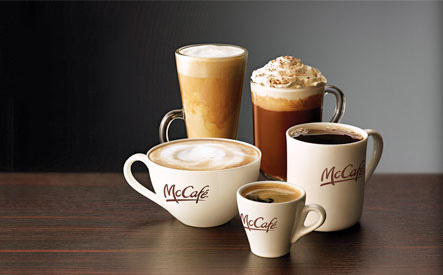 How much caffeine in a cup of coffee MC Donald
